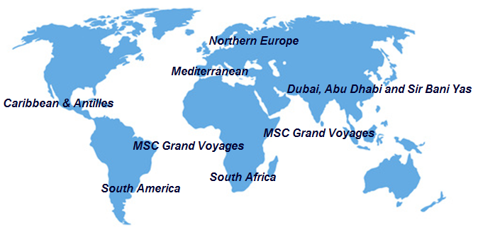 MSC destinations